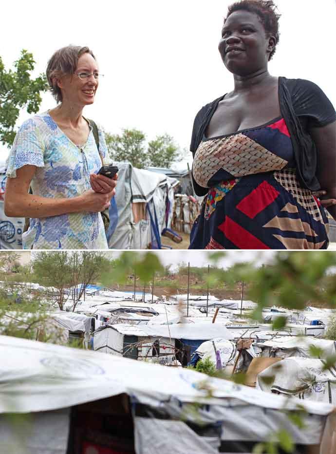 Caoimhe De Barra in South Sudan