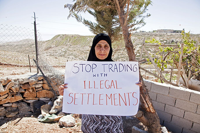 Stop trading with illegal settlements
