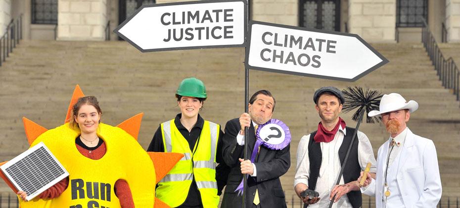 Stormont climate photo stunt