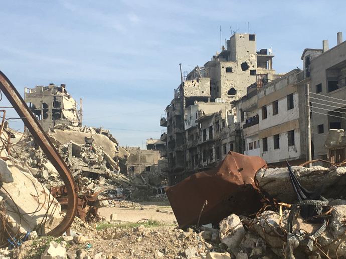 Destruction in Homs, Syra. Photo: Caritas.