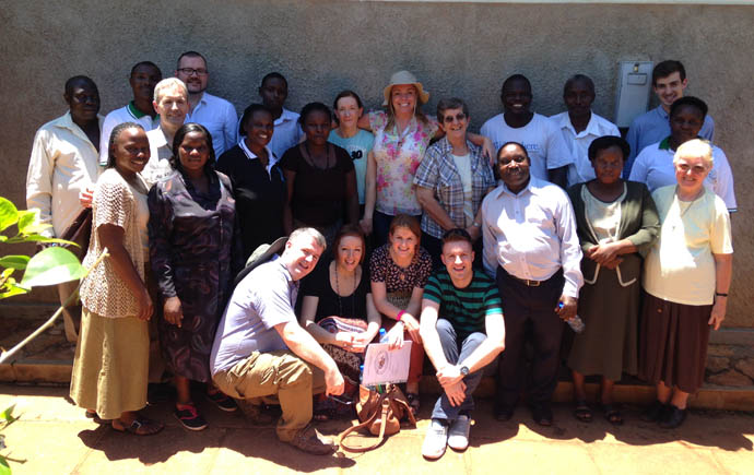 Staff and volunteers at Twizimbe Centre, Jinja with the teachers from Northern Ireland