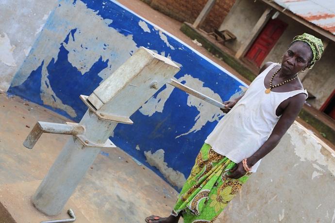 Water pump well in Sierra Leone