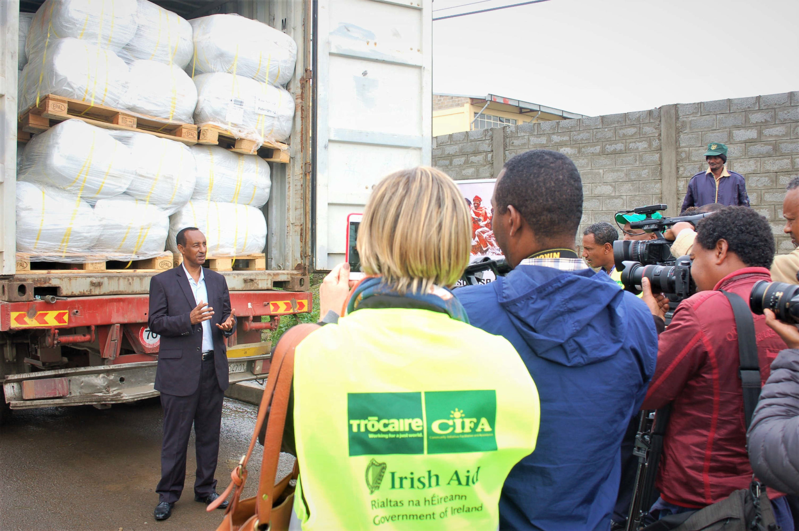 Irish Aid today delivered 118 tonnes of emergency aid to Trócaire's team in Ethiopia. The aid will benefit 20,000 people.