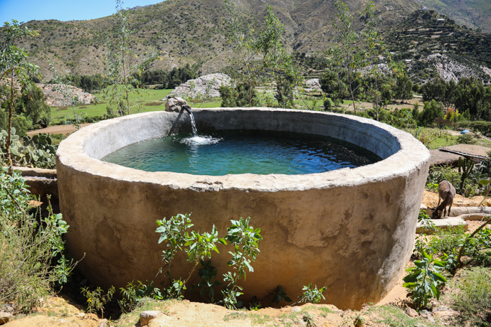 Water reservoir in Adigrat, Northern Ethiopia. (Photo : Seán Farrell / Trócaire)