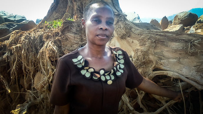 Nyasha Sunduza (44) is a survivor from Kopa village in Zimbabwe which was totally destroyed by the cyclone. (Photo : Godwill Mafake)