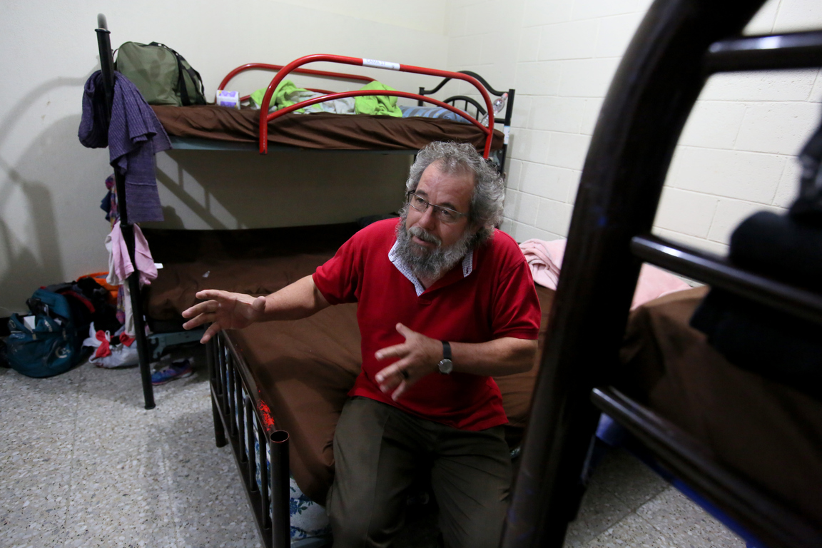 Father Mauro Verzeletti, director of the Migrant House, pictured at the Casa del Migrante in Guatemala City. Photo: Mark Stedman