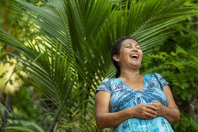 Albertina López (44), from Pajuiles, Tela (Honduras), is a community leader, human rights defender and General Coordinator of Trócaire ́s partner organization MADJ (the Broad Movement for Dignity and Justice) - Photo: Giulia Vuillermoz, Trócaire