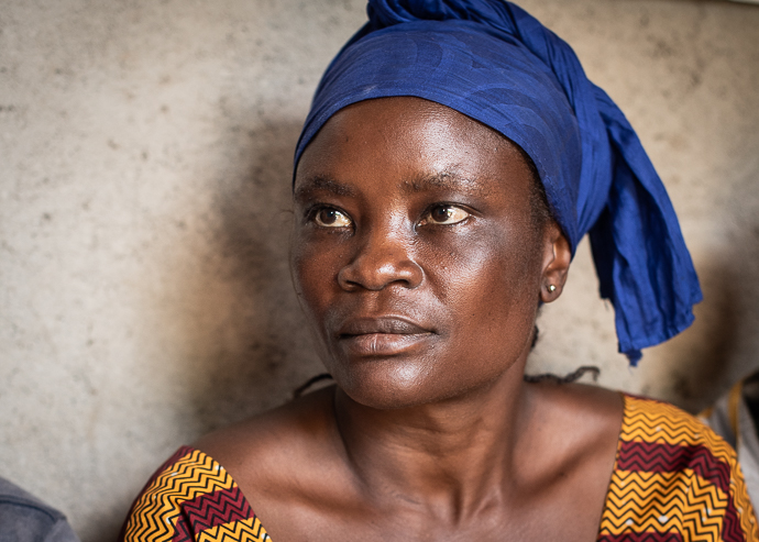 Nangeya Magi (40) member of the Butiaba village protection committee in DR Congo. The protection committee in the village of Butiaba support survivors of sexual and gender based violence. Photo : Garry Walsh / Trócaire