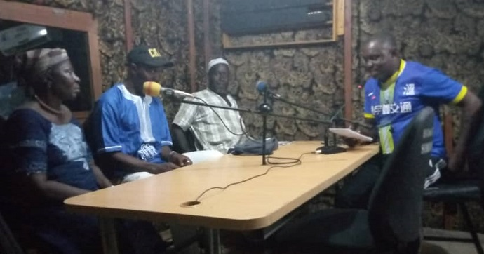 Radio programme on COVID 19 in Makeni. Photo : Gibrillatu M. Bangura, AAD-SL