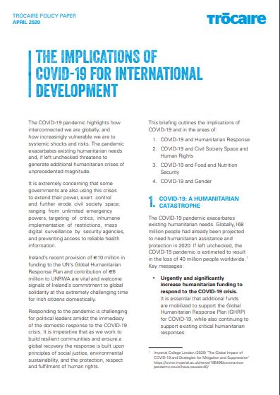 The Implications of Covid 19 for International Development