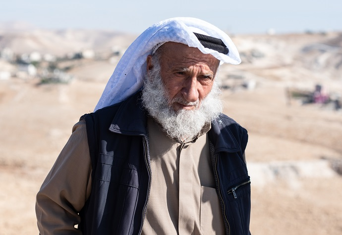 Salim Sabah (67) was violently attacked by Israeli settlers when trying to access the family's land. Photo: Garry Walsh/Trócaire.