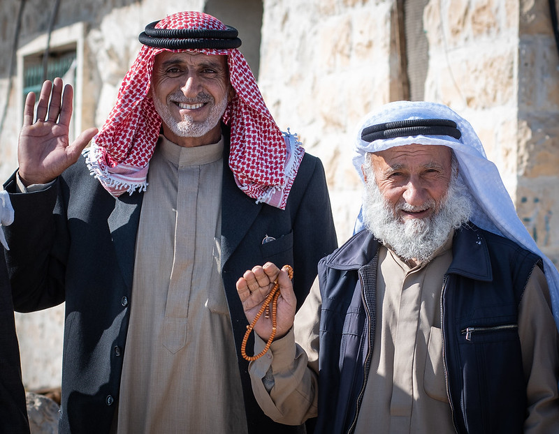After 18 years, they can access their land again: Palestinians farmers Muhammad Sabah (58), and Salim Sabah (67). Photo : Garry Walsh