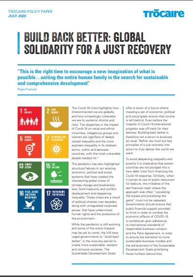 BUILD BACK BETTER: global solidarity for a just recovery