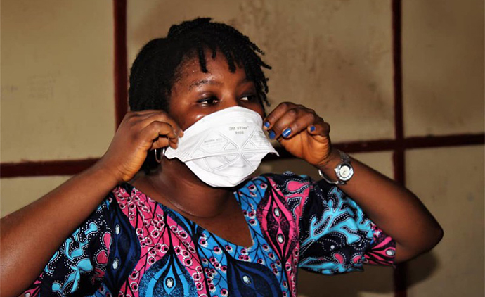 COVID-19 awareness and prevention campaign in Sierra Leone. Photo : Jonathan Bundu / SEND - SL