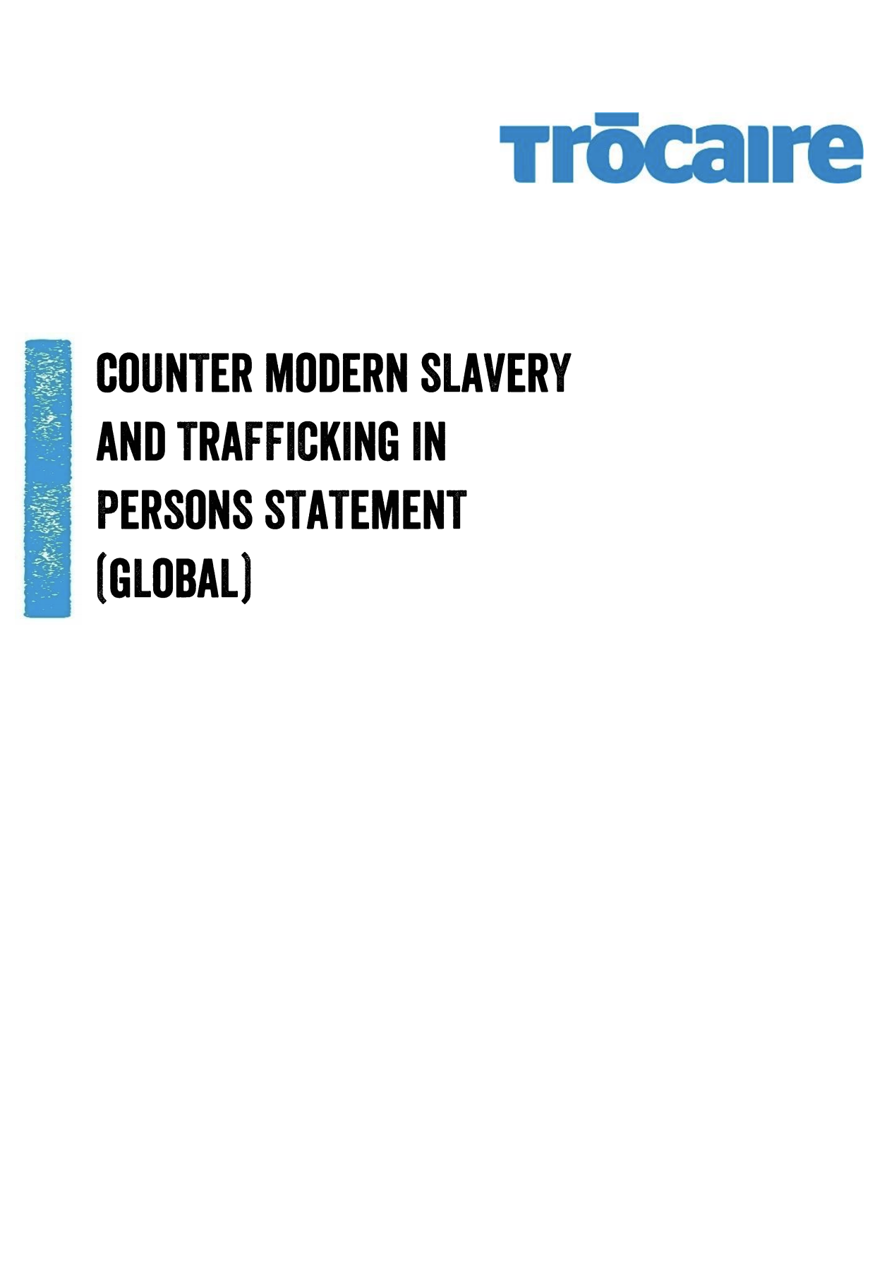 Counter Modern Slavery & Traffic in Person Statement