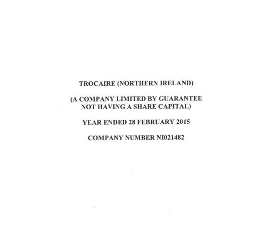 2014-15 Trocaire Northern Ireland Annual Report