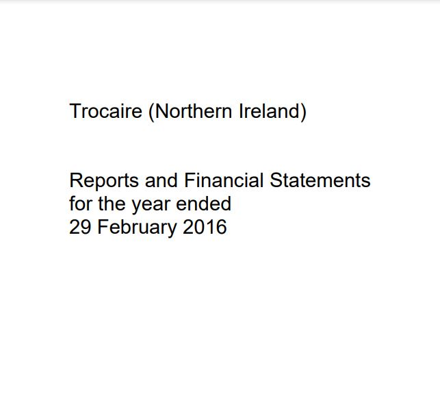 2015-16 Trócaire Northern Ireland Annual Report