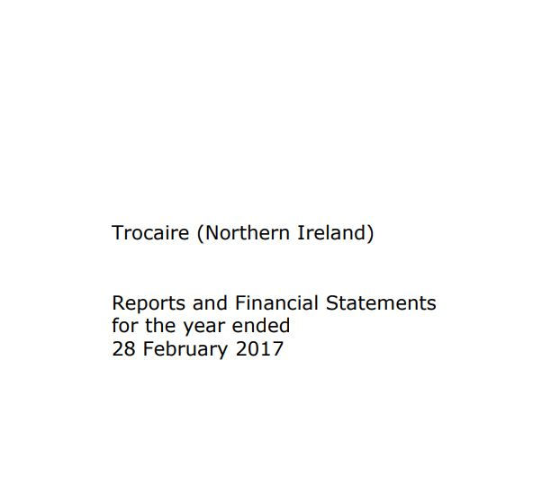 2016-17 Trócaire Northern Ireland Annual Report