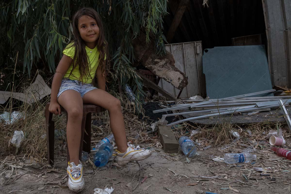 Zaina, 6, says she is still afraid when she hears loud voices.