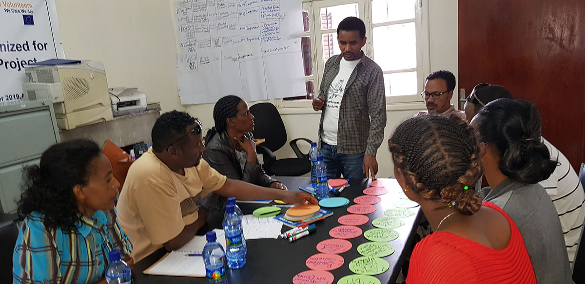 OPA staff attending capacity building trainings on Emergency Preparedness Training, November 2019 in Addis Ababa. Photo : OPA