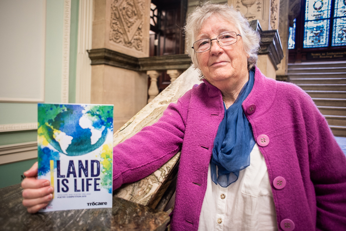Christine Broe is one of the Runners Up in the Adult Published Category again this year. Here she is pictured with the 2019 competition booklet 'Land is Life' in which she was winner in the 'Adult Published' category.