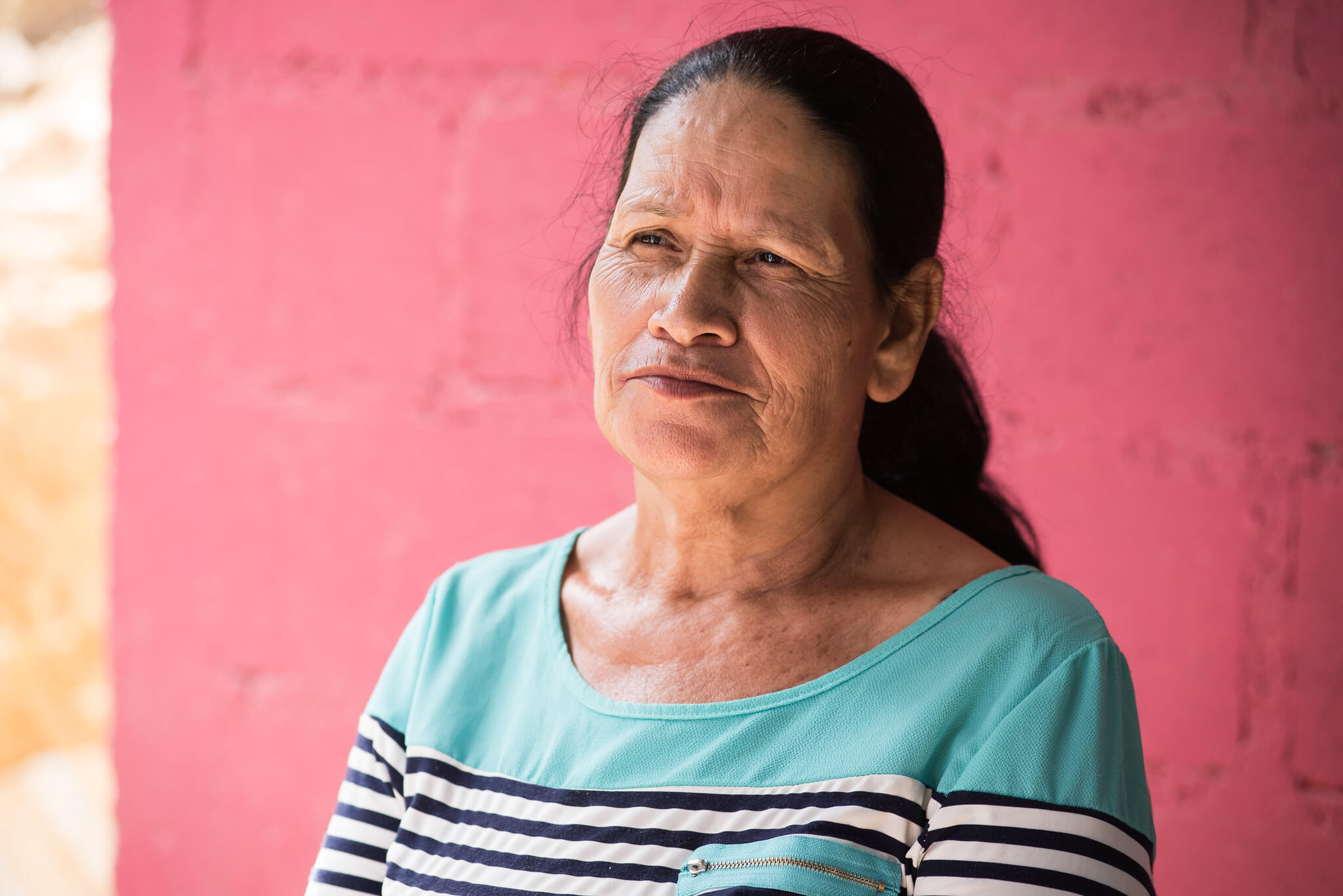 Flores Mira Lopez, 59, from Azacualpa in Honduras. Photo Garry Walsh