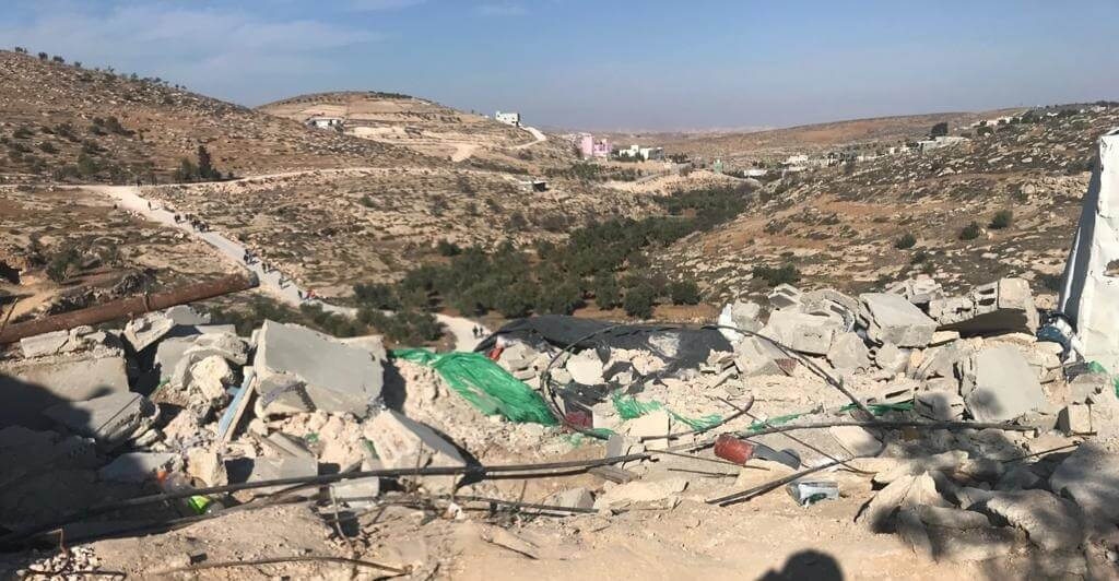 The remains of Harun's house after it was demolished by the Israeli authorities in November 2020. Photo : Ori Givati