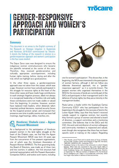 Gender-Responsive Approach and Women's Participation