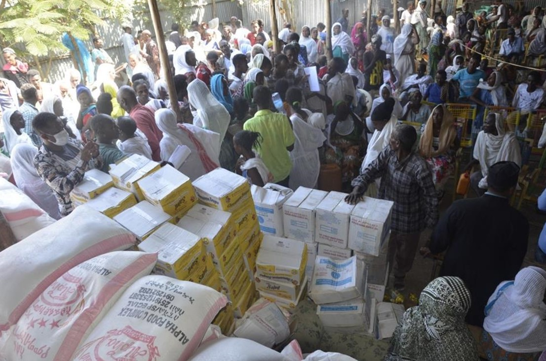 Our local church partners in Tigray in Northern Ethiopia are providing emergency supplies to people affected by the recent armed conflict. Photo : Caritas Internationalis
