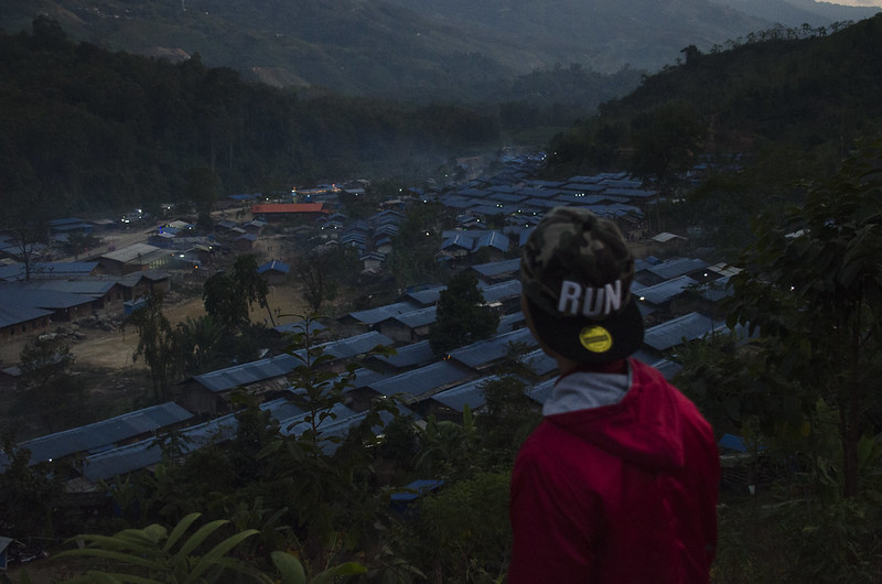 Camps for people displaced by conflict in northern Myanmar