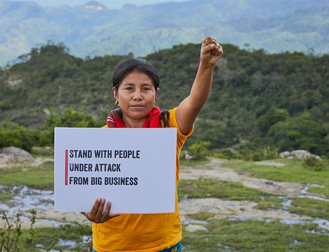 Honduran Human Rights Defender, Maria Felicita Lopez (31), mother. Photo: Simon Burch
