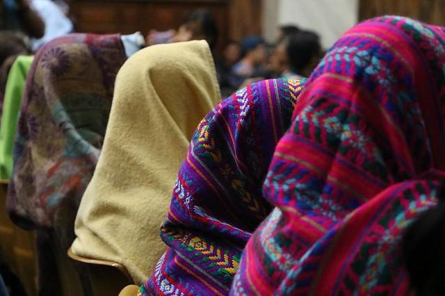The women of Sepur Zarco at the trial to convict their perpetrators of sexual slavery. Photo: Mujeres Transformando el Mundo