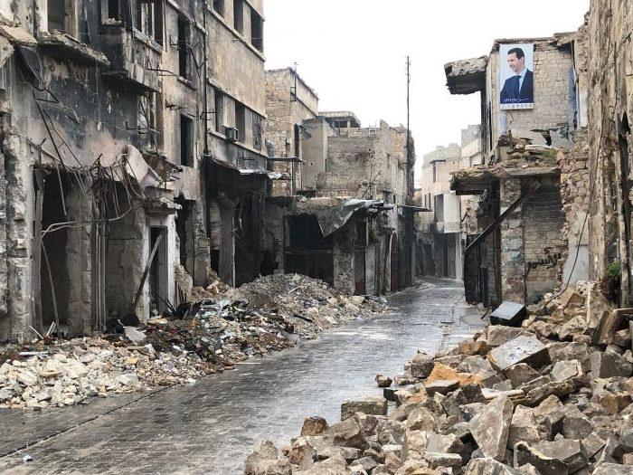 Destruction in the Syrian city of Aleppo. Photo : Caritas Internationalis