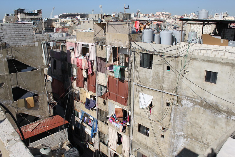 Refugees for seventy years : the Shatila refugee camp in Lebanon's capital city of Beirut for Palestinians who lost their homes in 1948 and have never been able to return. Many generations have been born living in these huge camps.