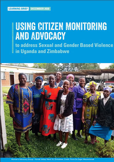 Using Citizen Monitoring and Advocay to address Sexual and Gender Based Violence in Uganda and Zimbabwe
