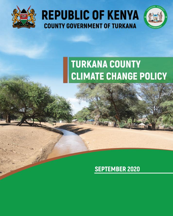 Turkana County Climate Change Policy