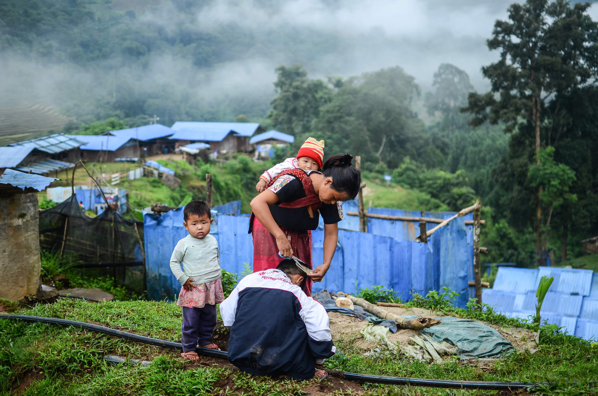 'There was very intense gunfire' says 30 year old Galau Lu Mai about the day she decided to flee to the safety of an IDP camp. Photo : Gyung Dau / Trócaire