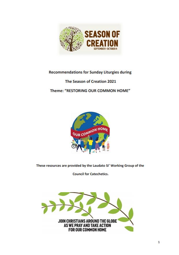 Sunday Liturgy Notes for the Season of Creation 2021