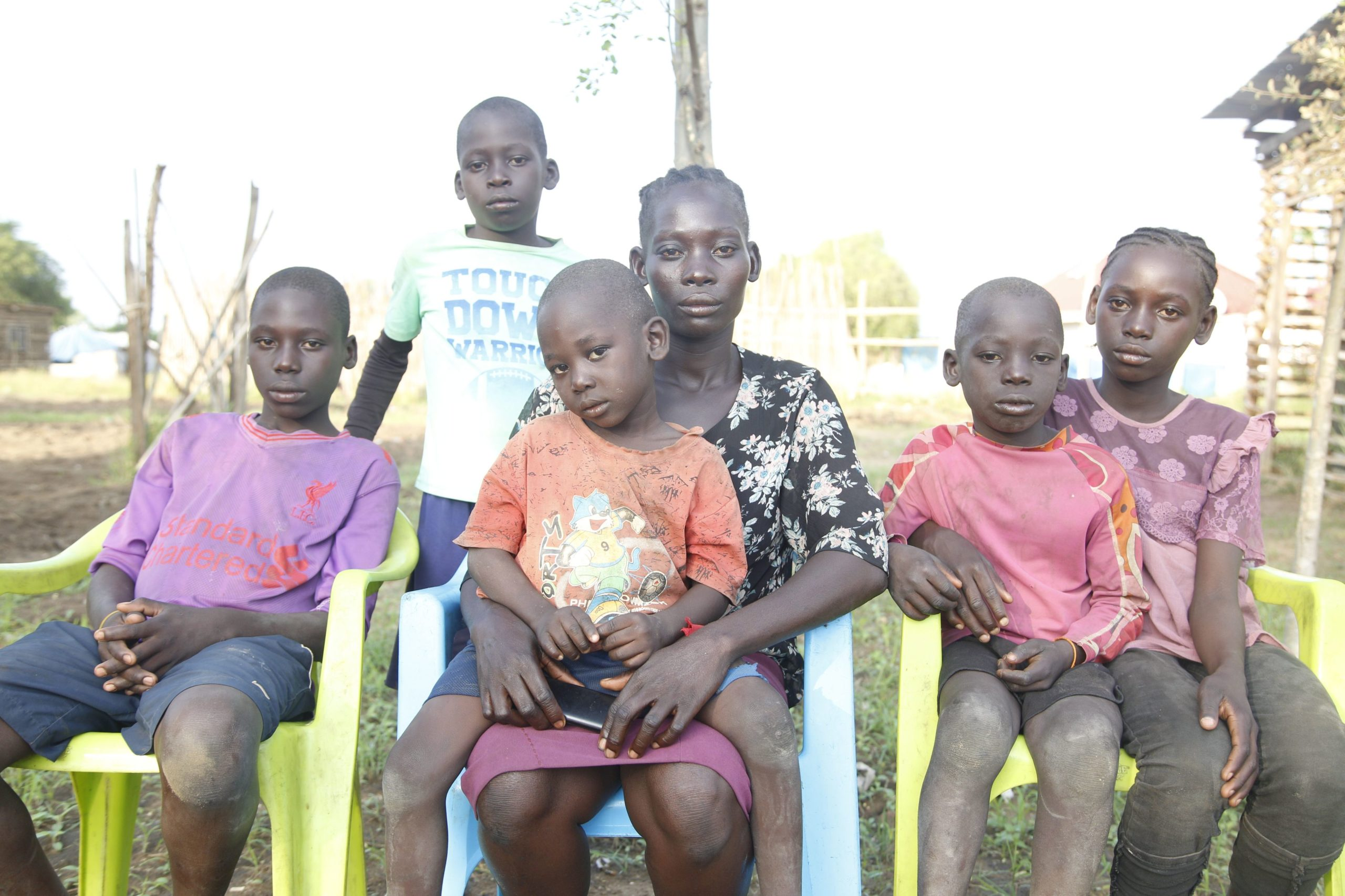Joy (27) is the Mother of 5 children, three of whome were born into conflict. Photo credit Achuoth Deng/CAFOD and Trócaire in Partnership