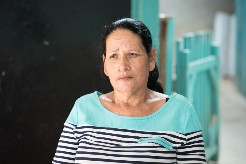 Flores Mira Lopez (59) from Azacualpa in Honduras opposes the-exhumation of her fathers remains by a mining company. Garry Walsh