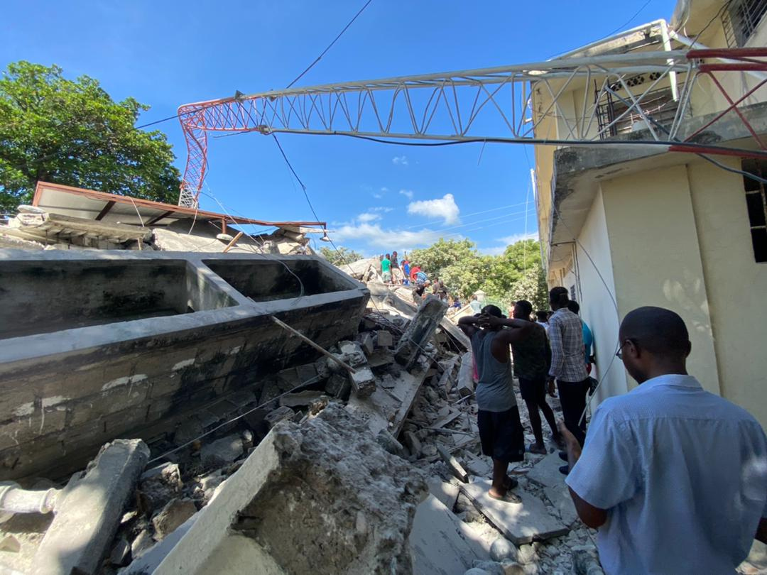 In Haiti, buildings have collapsed including an estimated 10,000 homes, churches, schools and hospitals. Photo Credit: Caritas