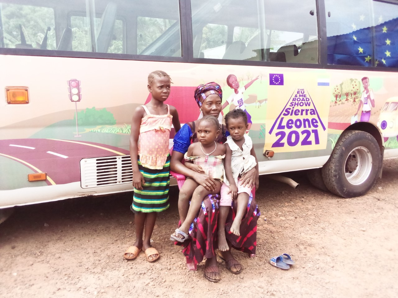 Deputy leader Aminata Kamara, pictured with her three daughters, has become a role model for the women of Konta Bana in Sierra Leone Photo Credit: Trócaire