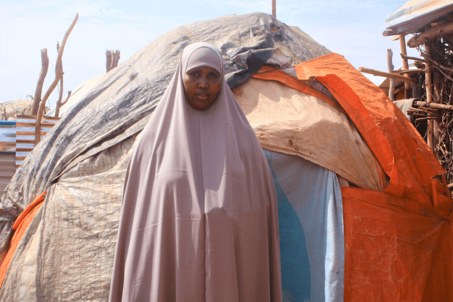Asli was forced to flee from her home to escape drought and conflict where she lived  Photo : Trócaire